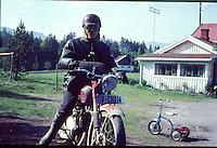 Man on motorbike 1966