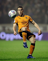 """Wolverhampton Wanderers' Diogo Jota during the Sky Bet Championship match at Molineux, Wolverhampton. PRESS ASSOCIATION Photo. Picture date: Wednesday April 11, 2018. See PA story SOCCER Wolves. Photo credit should read: Nick Potts/PA Wire. RESTRICTIONS: EDITORIAL USE ONLY No use with unauthorised audio, video, data, fixture lists, club/league logos or """"live"""" services. Online in-match use limited to 75 images, no video emulation. No use in betting, games or single club/league/player publications."""