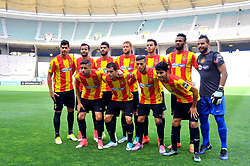 May 12, 2017 - Rades, Tunisia - Team of Esperance Sportive de Tunis (EST)..First day of the group stage of the Champions League  2017 Total  between Esperance Sportive de Tunis (EST) and the formation of AS Vita Club (RD Congo) at the Rades stadium..The Esperance Sportive de Tunis (EST) won by 3/1. (Credit Image: © Chokri Mahjoub via ZUMA Wire)