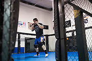 Ken Shamrock trains at Guy Mezger's Combat Sports Club in Addison, Texas on January 18, 2016.