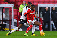 Mamadou Thiam of Barnsley (26) holds the ball up during the EFL Sky Bet League 1 match between Barnsley and Charlton Athletic at Oakwell, Barnsley, England on 29 December 2018.