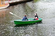 Boat on canal in Kronvalda Park, Riga, Latvia © Rudolf Abraham