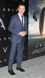 November 6, 2016 - Los Angeles, California, United States - November 6th 2016 - Los Angeles California USA - Actor JEREMY RENNER    at the 2016 ''Arrivals'' Premiere  held at the Regency Village Theater, Westwood  Los Angeles, CA (Credit Image: © Paul Fenton via ZUMA Wire)