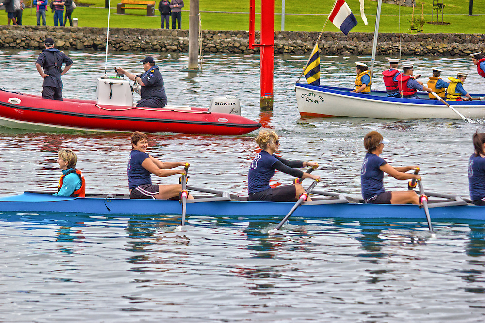 rowers from the flotilla that formed the opening of te matua a pohe 2013.
