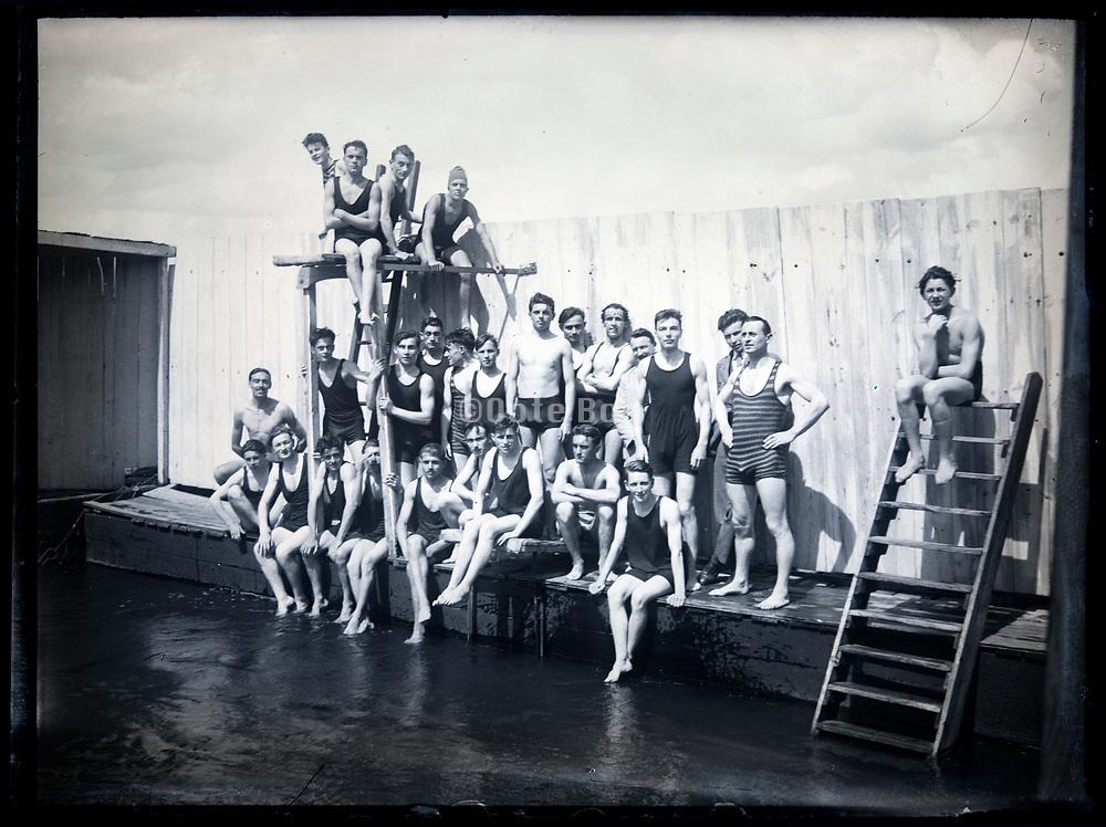 swimming club group France circa 1920s