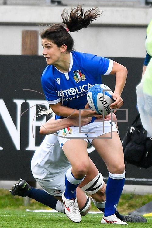Parma 10/04/2021 Stadio Sergio Lanfranchi<br /> Sei Nazioni femminile 2021<br /> Italia vs Inghilterra <br /> <br /> Aura Muzzo