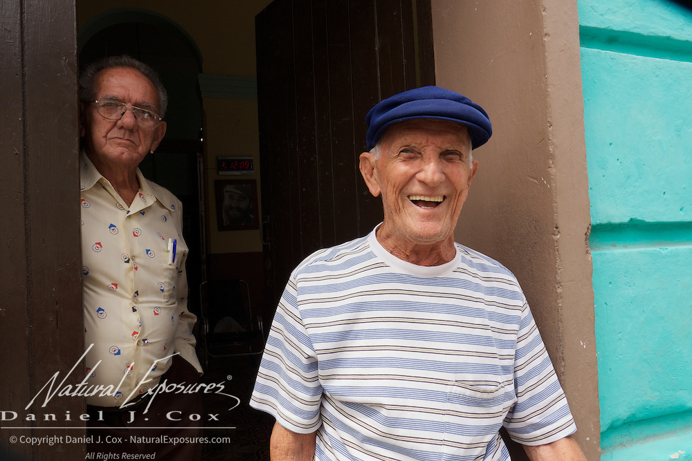 A couple of older gentleman on the streets of Ceinfuegos, Cuba