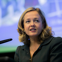 """Brussels, Belgium - 25 September 2017 <br /> """"The Future of Finances"""" conference.<br /> Nadia Calviño, Director General DG Budget<br /> Photo: European Commission / Ezequiel Scagnetti"""