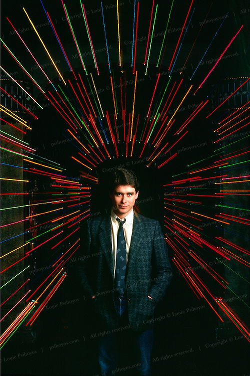 """Jay McInerney, author of the best selling novel, """"Bright Lights, Big City"""" at Area a nightclub in the Tribeca area of New York City."""
