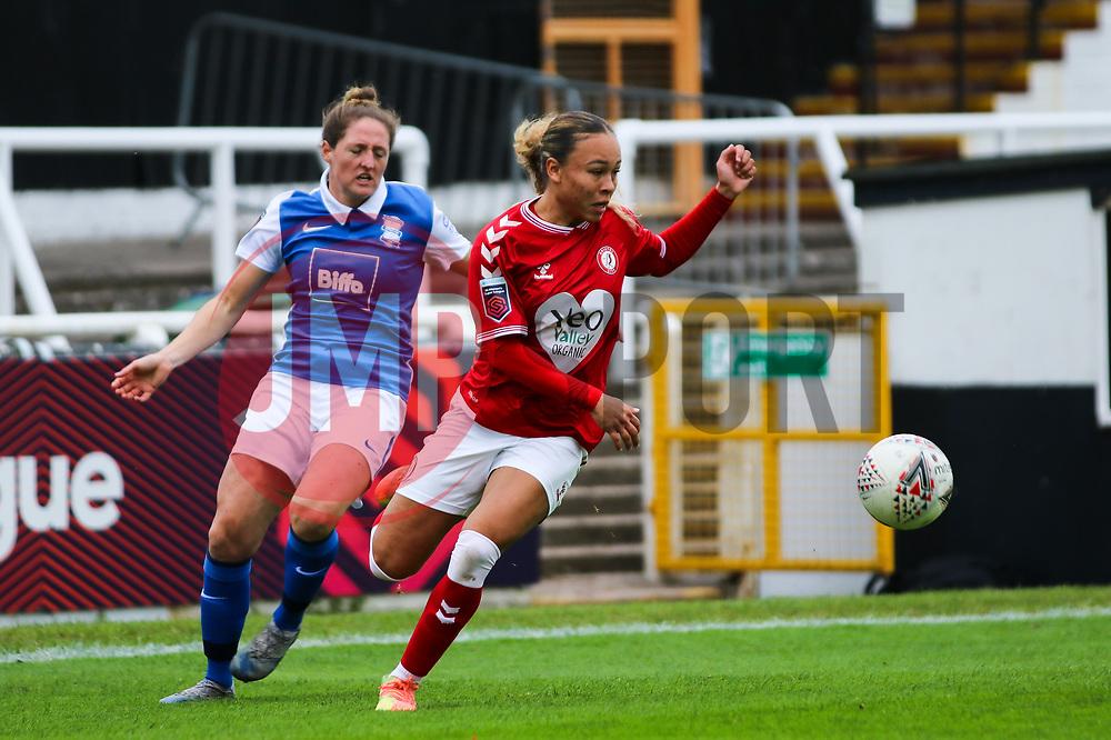 Ebony Salmon of Bristol City Women - Mandatory by-line: Will Cooper/JMP - 18/10/2020 - FOOTBALL - Twerton Park - Bath, England - Bristol City Women v Birmingham City Women - Barclays FA Women's Super League