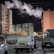 Novy Urengoi town in Yamal region, sub-Arctic Russia. <br /> <br /> The town is built in the 1950s to exploit some of the world's largest gas fields.