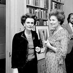 16 November 1978 - Margaret, Duchess of Argyll and Mrs Vane Ivanovic at a reception in London.<br /> <br /> Photo by Desmond O'Neill Features Ltd.  +44(0)1306 731608  www.donfeatures.com