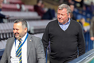AFC Wimbledon manager Wally Downes walking down the side of the pitch during the EFL Sky Bet League 1 match between AFC Wimbledon and Gillingham at the Cherry Red Records Stadium, Kingston, England on 23 March 2019.