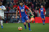 James Tomkins of Crystal Palace in action. Premier League match, Crystal Palace v Sunderland at Selhurst Park in London on Saturday 4th February 2017. pic by Steffan Bowen, Andrew Orchard sports photography.