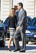 110716 Spanish Royals Attend Opening session of the International Symposium about Carlos III