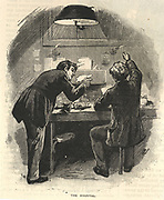 'The Hospital where damaged and badly packed letter and packets were repaired before being sent to their destination  General Post Office, St Martin's le Grand, London.  Engraving, London, 1886.'