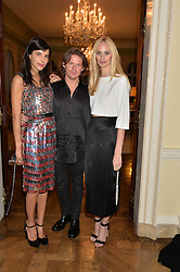 Left to right, CAROLINE VON WESTENHOLZ, CHRISTOPHER KANE and LAUREN SANTO DOMINGO at a party hosed by the US Ambassador to the UK Matthew Barzun, his wife Brooke Barzun and editor of UK Vogue Alexandra Shulman in association with J Crew to celebrate London Fashion Week held at Winfield House, Regent's Park, London on 16th September 2014.