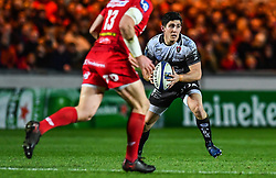 Toulon's Anthony Belleau in action during todays match<br /> <br /> Photographer Craig Thomas/Replay Images<br /> <br /> European Rugby Champions Cup Round 5 - Scarlets v Toulon - Saturday 20th January 2018 - Parc Y Scarlets - Llanelli<br /> <br /> World Copyright © Replay Images . All rights reserved. info@replayimages.co.uk - http://replayimages.co.uk