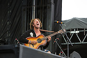 Queens, NY - October 2, 2016. Danny Miller of the band Lewis del Mar playing their set at The Meadows festival at Citi Field.