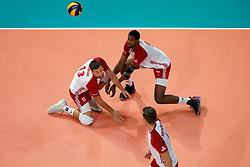 23-09-2019 NED: EC Volleyball 2019 Poland - Germany, Apeldoorn<br /> 1/4 final EC Volleyball Poland win 3-0 / Michał Kubiak #13 of Poland, Wilfredo Leon Venero #9 of Poland