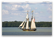 A ship under sail during the Perry 200 Commemoration, September 2013, Erie Pennsylvania, USA