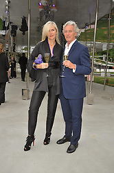 AMANDA WAKELEY and GORDON CAMPBELL-GREY at the annual Serpentine Gallery Summer Party sponsored by Canvas TV  the new global arts TV network, held at the Serpentine Gallery, Kensington Gardens, London on 9th July 2009.