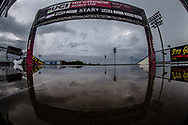 Rain delay during Round 7 of the 2019 UCI BMX Supercross World Cup in Rock Hill, USA