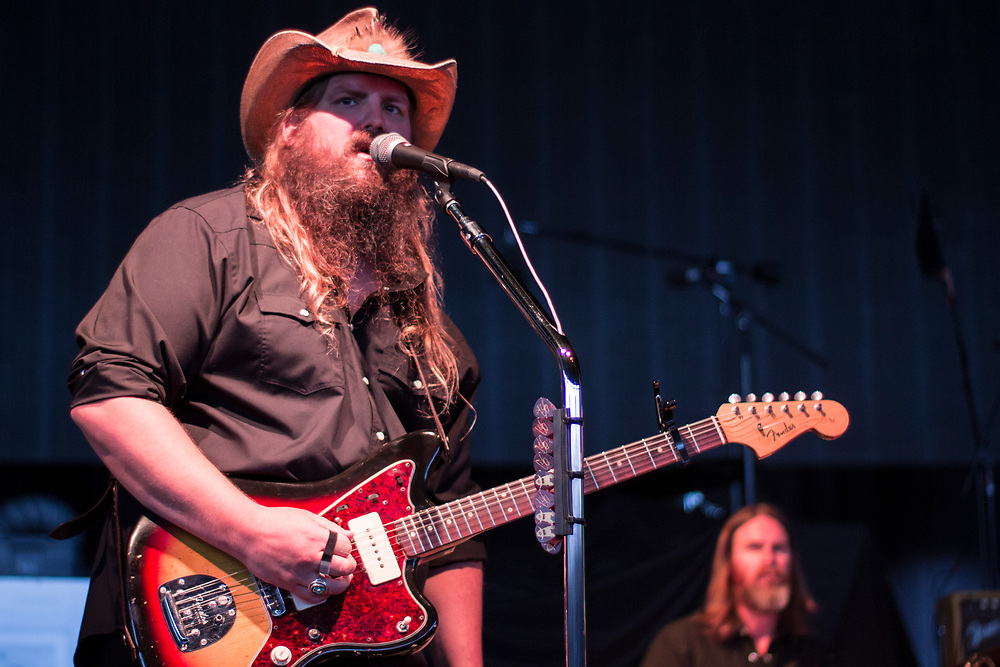 Chris Stapleton performs at Summerfest in Milwaukee, WI on July 5, 2017.