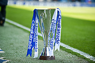 The EFL checkatrade trophy during the EFL Sky Bet League 1 match between Portsmouth and Rochdale at Fratton Park, Portsmouth, England on 13 April 2019.