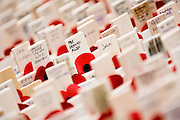 Crosses with poppies are massed outside Westminster Abbey to remember those who have died serving their country. Guy Bell photography, GBPhotos.com
