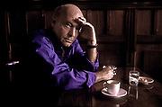 "Reknown author Eduardo Galeano in a Montevideo café, Uruguay.  (born September 3, 1940) is a Uruguayan journalist, writer and novelist. His most well known works are Memoria del fuego (Memory of Fire, 1986) and Las venas abiertas de América Latina (Open Veins of Latin America, 1971) which have since been translated into twenty languages and transcend orthodox genres: combining fiction, journalism, political analysis, and history. The author himself has denied that he is a historian saying, ""I'm a writer obsessed with remembering, with remembering the past of America above all and above all that of Latin America, intimate land condemned to amnesia."""