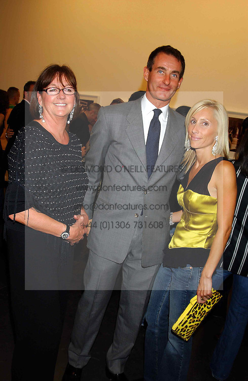 Left to right, MRS HILARY JEFFERIES, her son TIM JEFFERIES and ALEXANDRA VON FURSTENBURG who is separated from her husband Austrian Prince Alexander von Furstenberg  at a party to celebrate the opening of an exhibition of photographs by the late Norman Parkinson held at Hamiltons gallery, 13 Carlos Place, London W1 on 14th September 2004.<br /><br />NON EXCLUSIVE - WORLD RIGHTS