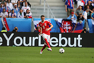 Chris Gunter of Wales in action.Euro 2016, Wales v Slovakia at Matmut Atlantique , Nouveau Stade de Bordeaux  in Bordeaux, France on Saturday 11th June 2016, pic by  Andrew Orchard, Andrew Orchard sports photography.