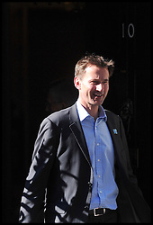 Culture Secretary Jeremy Hunt outside No 10 Downing St eve of the Olympic games, Thursday July 26, 2012. Photo by Andrew Parsons/i-Images.All Rights Reserved ©Andrew Parsons.See Instructions