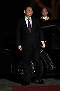 Koning Willem Alexander en Koningin Maxima ontvangen  de delegatieleiders van de Nuclear Security Summit (NSS) voor een diner op Paleis Huis Ten Bosch in Den Haag.<br /> <br /> King Willem Alexander and Queen Maxima receive the heads of delegation of the Nuclear Security Summit (NSS) for a dinner at the palace Huis Ten Bosch in The Hague.<br /> <br /> Op de foto / On the photo:  Chinese president Xi Jingping