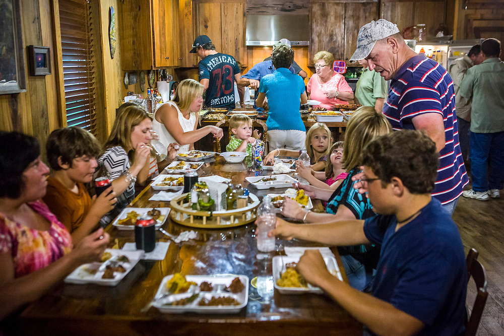"""Troy Landry and the entire Landry family comes together for a special Swampsgiving feast on the History Channel's """"Swamp People"""""""