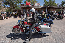 Hackberry General Store on historic Route 66 in Kingman, Arizona during the Motorcycle Cannonball Race of the Century. Stage-13 ride from Williams, AZ to Lake Havasu CIty, AZ. USA. Friday September 23, 2016. Photography ©2016 Michael Lichter.