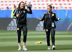 Scotland's Caroline Weir (left) and Jo Love during the FIFA Women's World Cup, Group D match at the Stade de Nice.