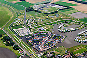 Nederland, Friesland, Gemeente  Dongeradeel, 05-08-2014; Esonstad, ten oosten van Anjum, aan het  Lauwersmeer (voormalige Lauwerszee). Landal vakantiepark.<br /> Holiday resort near Lauwers Lake, former Lauwers Sea on the border between Groningen and Friesland (north Netherlands).<br /> luchtfoto (toeslag op standard tarieven);<br /> aerial photo (additional fee required);<br /> copyright foto/photo Siebe Swart