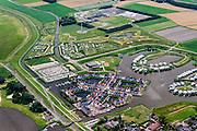 Nederland, Friesland, Gemeente  Dongeradeel, 05-08-2014; Esonstad, ten oosten van Anjum, aan het  Lauwersmeer (voormalige Lauwerszee). Landal vakantiepark.<br /> Holiday resort near Lauwers Lake, former Lauwers Sea on the border between Groningen and Friesland (north Netherlands).<br /> luchtfoto (toeslag op standard tarieven);<br /> aerial photo (additional fee required);<br /> copyright foto/photo Siebe Swart