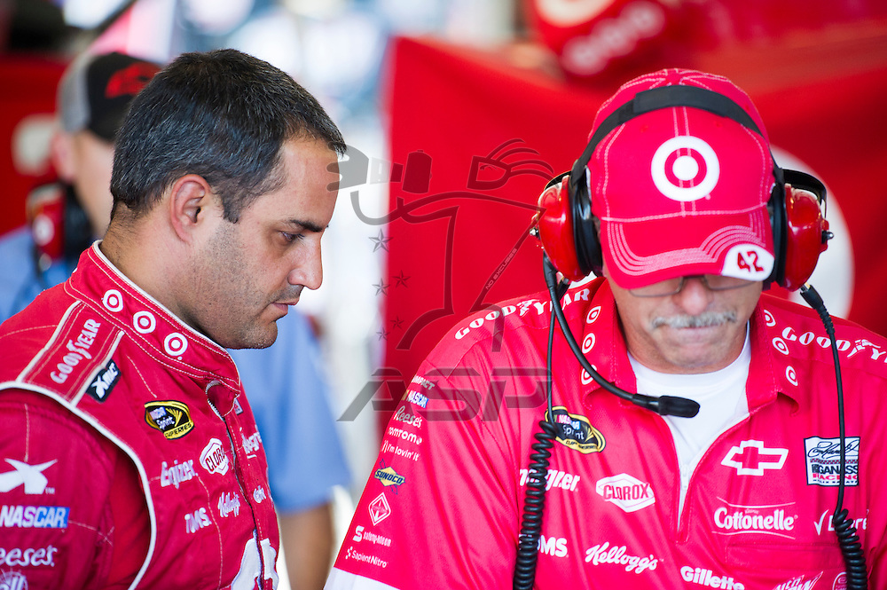 Joliet, IL - SEP 14, 2012:  The NASCAR Sprint Cup teams take to the track for The GEICO 400 at Chicagoland Speedway in Joliet, IL.