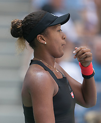 September 5, 2018 - Flushing Meadows, New York, U.S - Naomi Osaka wins her match against Lesia Tsurenko on Day 10 of the 2018 US Open at USTA Billie Jean King National Tennis Center on Wednesday September 5, 2018 in the Flushing neighborhood of the Queens borough of New York City.  Osaka defeats Tsurenko, 6-1, 6-1. (Credit Image: © Prensa Internacional via ZUMA Wire)