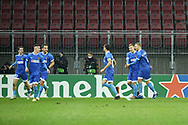 Wolfsberger players celebrate after the Dejan Joveljic's goal during the UEFA Europa League, Group K football match between Wolfsberger AC and Feyenoord on December 10, 2020 at Worthersee Stadion in Klagenfurt, Austria - Photo Yannick Verhoeven / Orange Pictures / ProSportsImages / DPPI