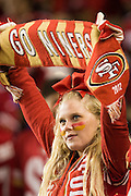 A San Francisco 49ers fan celebrates a touchdown against the Los Angeles Rams at Levi's Stadium in Santa Clara, Calif., on September 12, 2016. (Stan Olszewski/Special to S.F. Examiner)