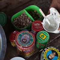 Beetlenut being prepared in Dhaka, Bangladesh