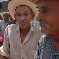 Aug 12, 2010 - Reynosa, Mexico - Waiting close to the tents of the Frank Ferree Border Relief group elderly and disabled get food donations before the rest of the community..(Credit Image: © Josh Bachman/ZUMA Press)