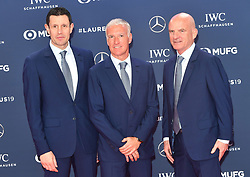 February 18, 2019 - Monaco, Monaco - Dider Deschamps,  Franck Raviot and Guy Stephanon arriving at the 2019 Laureus World Sports Awards on February 18, 2019 in Monaco  (Credit Image: © Famous/Ace Pictures via ZUMA Press)