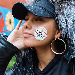 """Alicia Keys releases a photo on Twitter with the following caption: """"""""For all of our ancestors that fought and died and lived and survived and created everything we now have access to, I bow down in deep honor. We are proud to be your wildest dream and we won't let you down! Let's keep it up we are awake, aware, growing & powerful!! #ivoted 💥💥💥"""""""". Photo Credit: Twitter *** No USA Distribution *** For Editorial Use Only *** Not to be Published in Books or Photo Books ***  Please note: Fees charged by the agency are for the agency's services only, and do not, nor are they intended to, convey to the user any ownership of Copyright or License in the material. The agency does not claim any ownership including but not limited to Copyright or License in the attached material. By publishing this material you expressly agree to indemnify and to hold the agency and its directors, shareholders and employees harmless from any loss, claims, damages, demands, expenses (including legal fees), or any causes of action or allegation against the agency arising out of or connected in any way with publication of the material."""