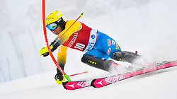 13.11.2016, Black Race Course, Levi, FIN, FIS Weltcup Ski Alpin, Levi, Salalom, Herren, 1. Lauf, im Bild Mattias Hargin (SWE) // Mattias Hargin of Sweden in action during 1st run of mens Slalom of FIS ski alpine world cup at the Black Race Course in Levi, Finland on 2016/11/13. EXPA Pictures © 2016, PhotoCredit: EXPA/ Nisse Schmidt<br /> <br /> *****ATTENTION - OUT of SWE*****
