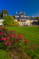 Gardens, Hillside Palace (Bergpalais), Pillnitz Castle, Pillnitz, Saxony, Germany